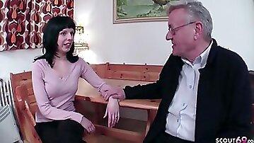 18yr Older German Teenager Tempt To Penetrate By 71yr Elderly Grand Daddy