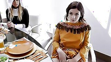 FamilyStrokes - Step Mother and Daughter Thanksgiving Fuck Fest