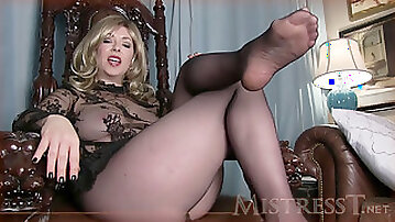 Pantyhose chastity tease
