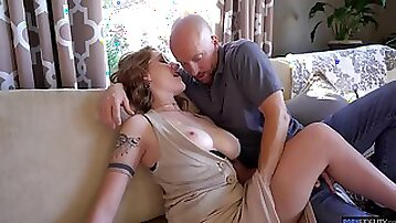 Sexy big breasted wife Aria Kai loves when her pussy gets almost torn apart