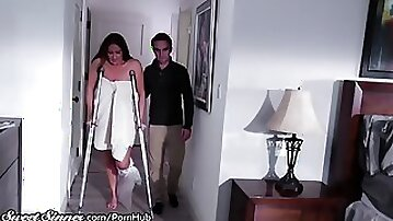 SweetSinner Sonnie Helps Mother out of Bathroom