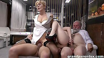 Mature and slutty niece are swapping dicks in insane manners