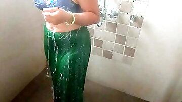 Indian Stepmom, Bathroom Sex