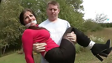 Raunchy Darkhaired Woman Is Tied - MILF Bondage