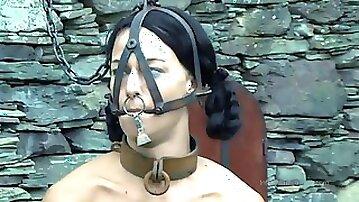 Strappado, claustrophobia and ejaculation predicament bondage for captive