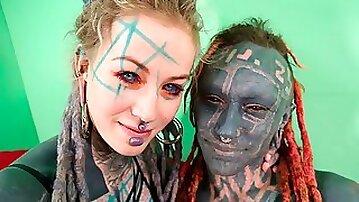 Good-looking alien hottie Anuskatzz screwed by another creature