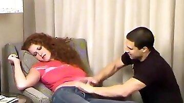 Drunk Sabrina Belly Button Tickle