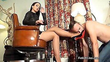 Louboutin Worship And Jizz Cum: fetish, femdom, feet worship, foot fetish