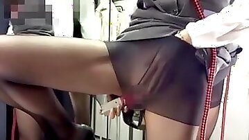 Japanese office lady is secretly exhibitionist and cam girl
