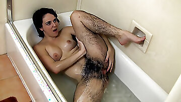 Harley soaps up hairy body in a sexy bath treat - Compilation - WeAreHairy