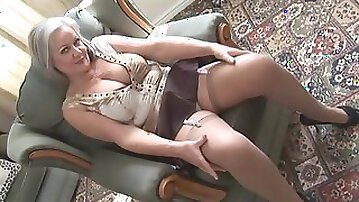 Mother Id like to fuck Handsome breasty granny in nylons stripping