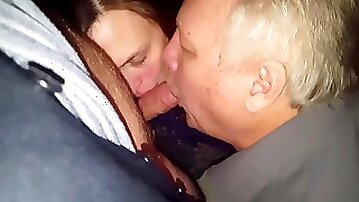 Cuck and wife lick Bullfriend together