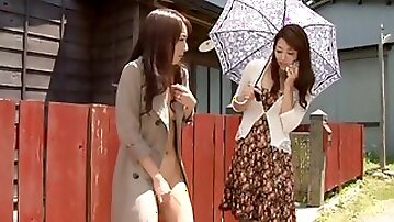 Awesome Outdoors Pussy Licking Lesbian Action with Beautiful Asians