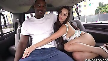 Colombian Hottie ditches friend for road dick
