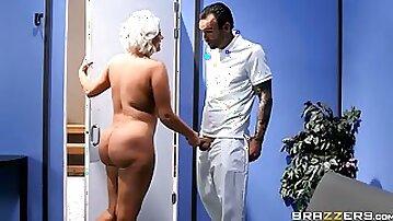 Watch as Alex Legend fucks a thick blonde cougar in the sauna