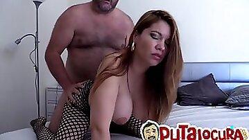 Stunning curvy blonde milf with huge tits Marlen Doll gets banged doggie