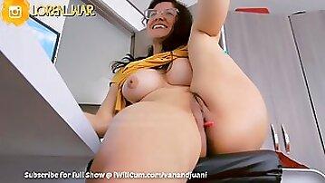 Big Titty Indian Auntie Cumming Her Fatty Vagina Lips