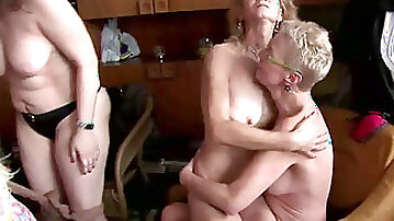 Galore of mature Czech moms get fucked in orgy at home