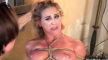 Full-Bosomed Mom hard ass fucking fucked in bondage
