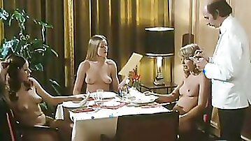 Slutty German retro girl plays exciting sex games with girlfriends