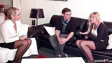 German Mature Wife watch Husband Fuck Big natural Tits MILF
