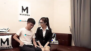Chinese cute lawyer seduces client