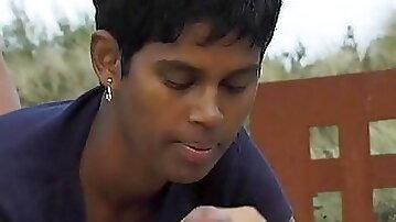 Sri Lankan Aunty with European 2 males