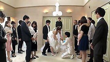 Best man takes bride in japanese wedding 1 - asian