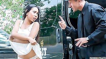 Wild Indonesian babe Killa Raketa squirts in steamy hardcore backseat fuck