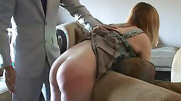 Spanking beth with a real hard hand