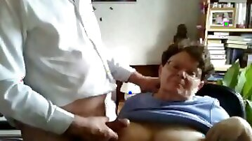 Me and my aged busty wife play on chatroulette when we are bored