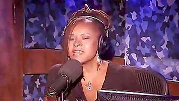 Bee the transgender princess rides the sybian saddle on The Howard Stern showcase