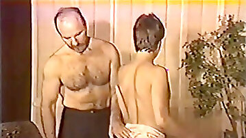 Vintage sissyficated faggot getting slapped and romped