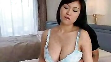 Japanese Boy Playing With His Aunt Big Natural Titts