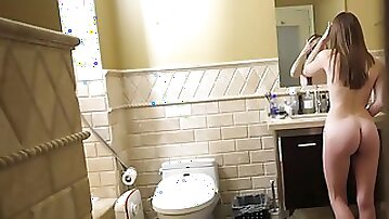 Stepsister Alice gets intimate with her stepbrother in hot POV clip