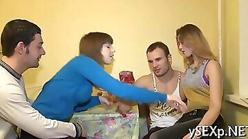 Two Russian teens think its time for a foursome
