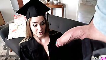 College graduate with a phat ass gets fucked by her stepbrother