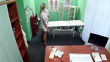 Cum hungry nurse fucks hung patient
