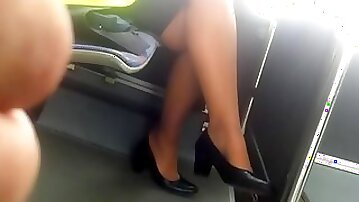 Stewardess nice legs