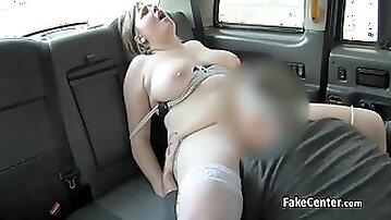 Tattoed BBW Nailed Cock In Taxi