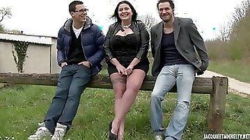 Bbw raven girl wants to more two stranger cocks