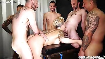 Della dane gets filled full of creampies and then fed them