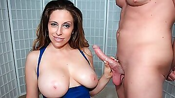 Adorable MILF Sienna Lopez knows how to stroke a big penis