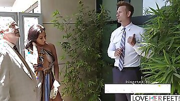 LoveHerFeet - Sneaky Cheating Foot Sex With The Hunk Realtor