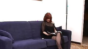 Redhead MILF Gets Her Anal wired Missionary As Moans
