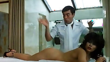 Lucky European masseur gets to grope and massage hot burnette