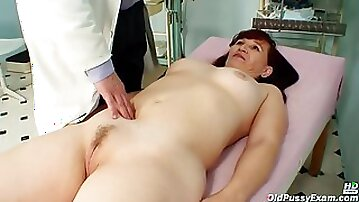 Czech Mature Is Moaning While Her Gynecologist Is Stimulating Her Hairy Pussy With Various Objects