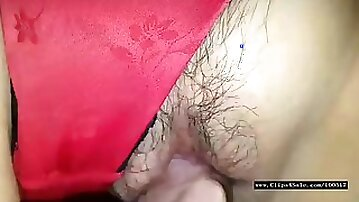 Kutwijf red satin panty 3 creampies b4 lunch