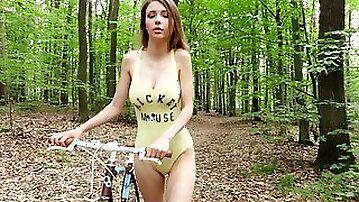 Natural tits Milla undresses and plays with her nude body in HD