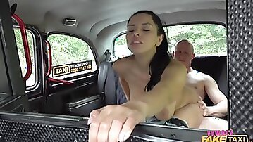 Gorgeous Russian taxi driver gets fucked balls deep